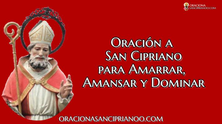 Oración A San Cipriano Para Amarrar Amansar y Dominar